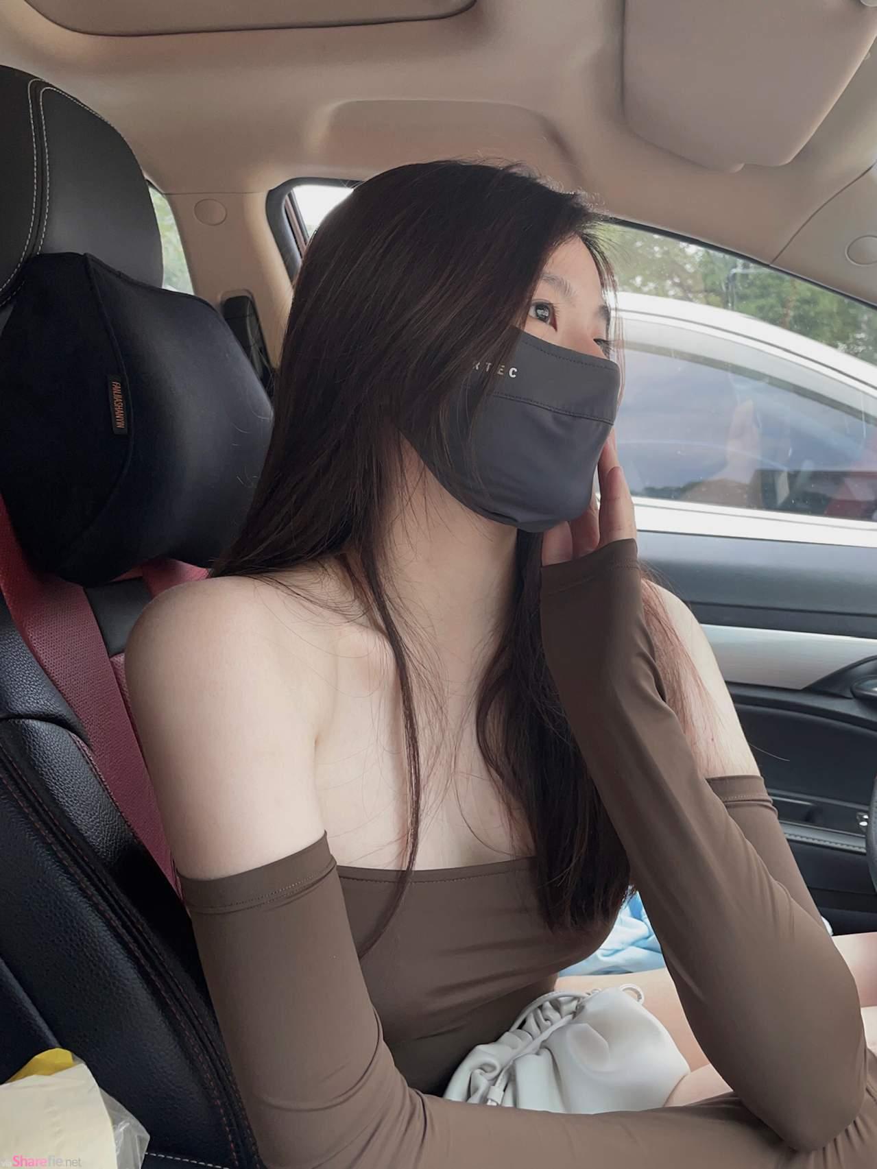 正妹推薦防曬口罩網友焦點卻在下方,口罩一摘下美到不行